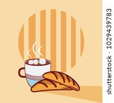 breads with coffee cup | Shutterstock .eps vector #1029439783