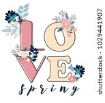 spring greeting card with a... | Shutterstock .eps vector #1029441907