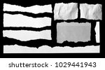 pieces of torn paper on black | Shutterstock . vector #1029441943
