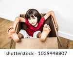 relaxed 6 years old child... | Shutterstock . vector #1029448807