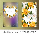 valentines day heart with rose... | Shutterstock .eps vector #1029455917