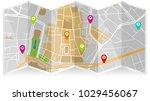 map city gps | Shutterstock .eps vector #1029456067