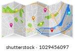map city gps | Shutterstock .eps vector #1029456097