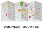 map city gps | Shutterstock .eps vector #1029456103