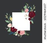 floral frame figure | Shutterstock .eps vector #1029464107