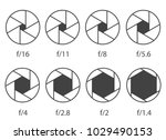 Creative vector illustration of camera shutter aperture with different iso isolated on transparent background. Art design monochrome diagrams collection. Abstract concept graphic element