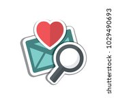 valentine's day vector icon ... | Shutterstock .eps vector #1029490693