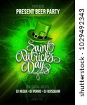 saint patricks day poster... | Shutterstock .eps vector #1029492343