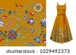 seamless vertical fantasy... | Shutterstock .eps vector #1029492373
