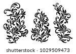 decorative floral elements with ... | Shutterstock .eps vector #1029509473