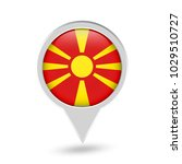 macedonia flag round pin icon.... | Shutterstock .eps vector #1029510727