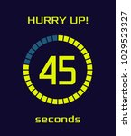 modern blue digital timer... | Shutterstock .eps vector #1029523327