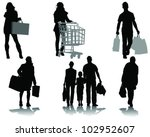 Shopping  Black Silhouettes...