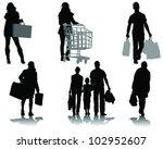 shopping  black silhouettes... | Shutterstock .eps vector #102952607