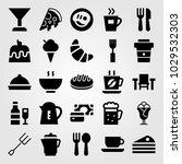 restaurant vector icon set.... | Shutterstock .eps vector #1029532303