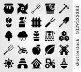 garden vector icon set. shovel  ... | Shutterstock .eps vector #1029533383