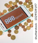 Small photo of 888sport, bet app in a smartphone, betting on internet