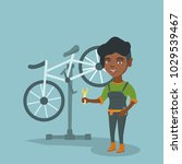 young african american bicycle... | Shutterstock .eps vector #1029539467