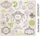 vector set  calligraphic design ... | Shutterstock .eps vector #102954197