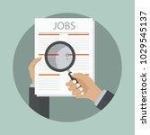 search the job on newspaper... | Shutterstock .eps vector #1029545137