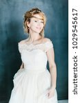 young beautiful bride with a...   Shutterstock . vector #1029545617