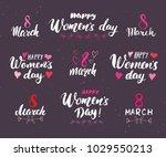 happy women's day hand... | Shutterstock .eps vector #1029550213