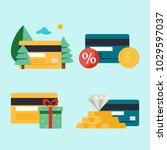 realistically credit cards with ... | Shutterstock .eps vector #1029597037