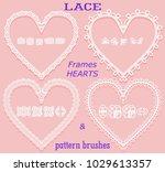 set of openwork frames in the...   Shutterstock .eps vector #1029613357