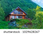 eco friendly house is in the... | Shutterstock . vector #1029628267