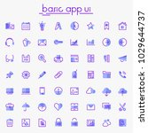 ui and ux big bold line icons...