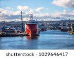 harbour in aberdeen  scotland ...   Shutterstock . vector #1029646417