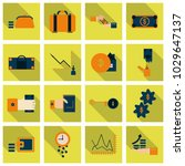 set of business simple icons.... | Shutterstock .eps vector #1029647137