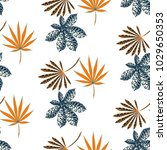 tropical seamless pattern with...   Shutterstock .eps vector #1029650353