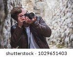 portrait of a handsome amateur...   Shutterstock . vector #1029651403