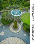 Small photo of SINGAPORE, SINGAPORE - JANUARY 30, 2018: Above view of supertree at Gardens by the Bay. The tree structures are fitted with environmental technologies, Singapore