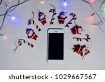 mobile smart phone and led... | Shutterstock . vector #1029667567