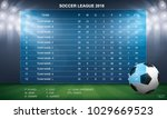 soccer table with background of ... | Shutterstock .eps vector #1029669523