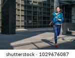 sport fitness running woman... | Shutterstock . vector #1029676087