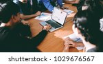 team at work  group of asia...   Shutterstock . vector #1029676567