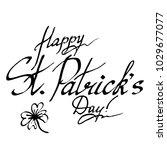 happy saint patrick's day wish... | Shutterstock .eps vector #1029677077