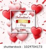happy valentine's day sale... | Shutterstock .eps vector #1029704173