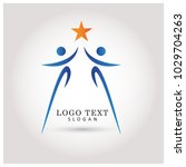 reaching star and success logo. ... | Shutterstock .eps vector #1029704263