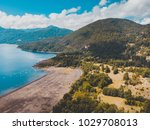 beautiful aerial landscape of... | Shutterstock . vector #1029708013
