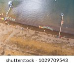 aerial shot of a chilean beach... | Shutterstock . vector #1029709543