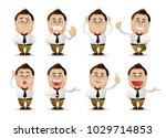 cute people   businessman set  | Shutterstock .eps vector #1029714853
