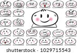 cute bun expression package | Shutterstock .eps vector #1029715543