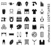 embroidery icons set. simple... | Shutterstock .eps vector #1029716983