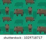 feral hog poses cartoon...   Shutterstock .eps vector #1029718717