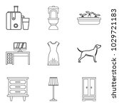 residence icons set. outline... | Shutterstock .eps vector #1029721183