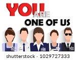 flat design banner of business... | Shutterstock .eps vector #1029727333